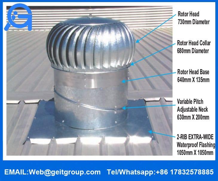 Turbine Vents Cangzhou Zhongtuo Roll Forming Machinery Co