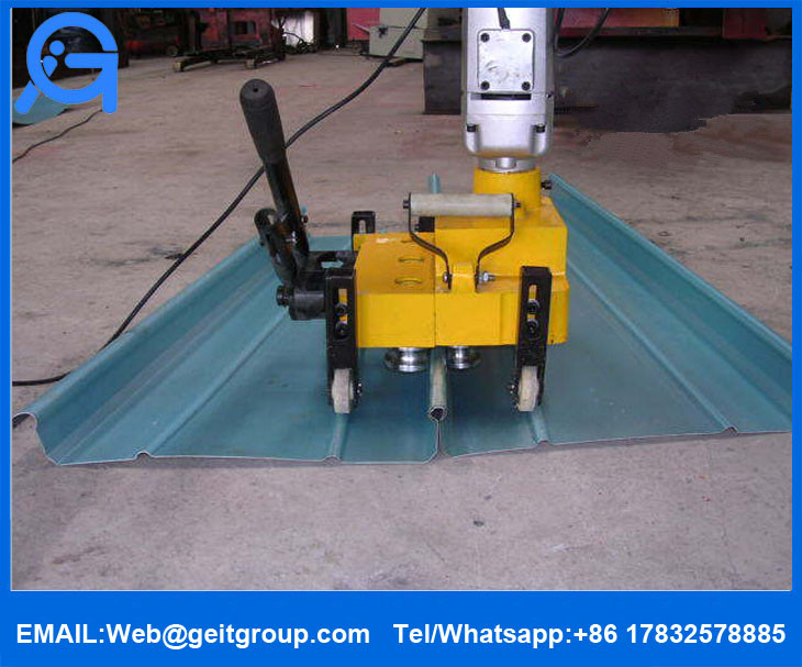 Portable Standing Seam Metal Roof Electric Seaming Machine
