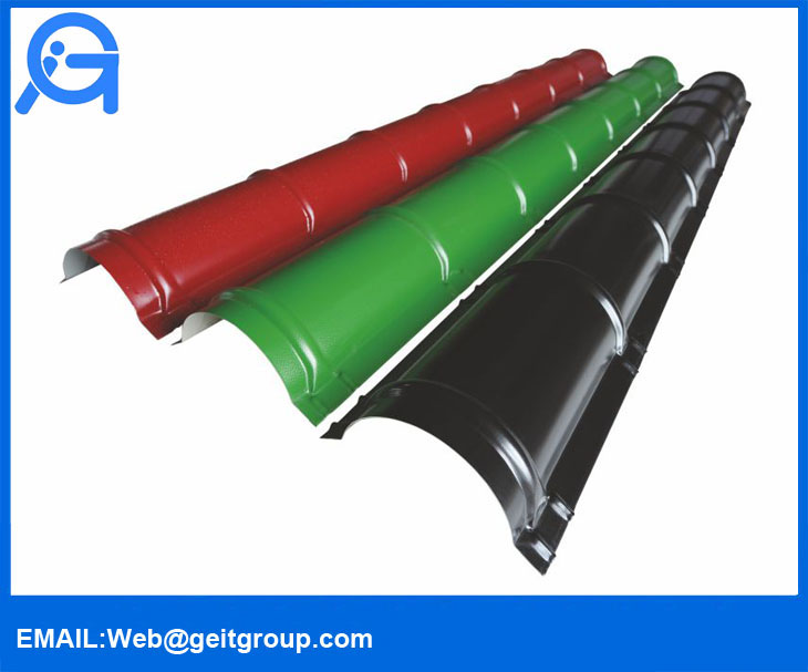 Roll Type Ridge Cap for Metal Roofing System